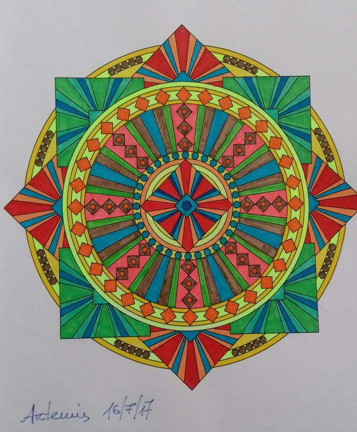 Week 61, mandala design vol. 2 by Jenean Morrison coloured by Artemis Anapnioti.
