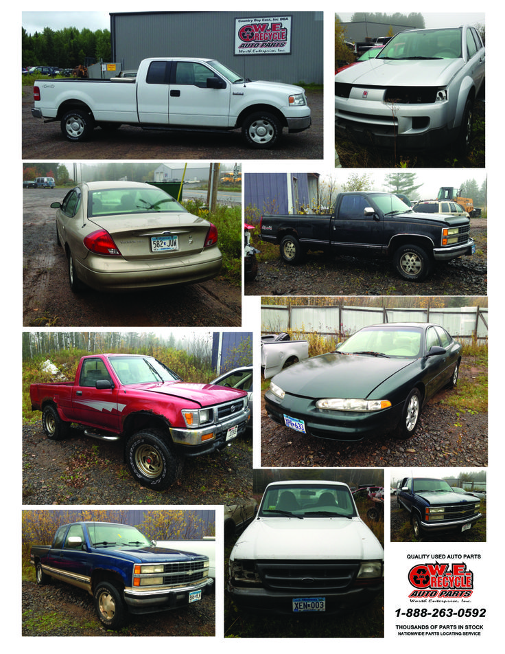 NEW Inventory:  2005 Ford F150 - 2003 Saturn Vue - 2003 Ford Taurus - 1991 Chevy Silverado 1500 - 1992 Toyota Pickup - 2001 Oldsmobile Intrigue - 1993 Chevy Silverado 1500 - 1999 Ford Ranger - 1993 Chevy Silverado 1500