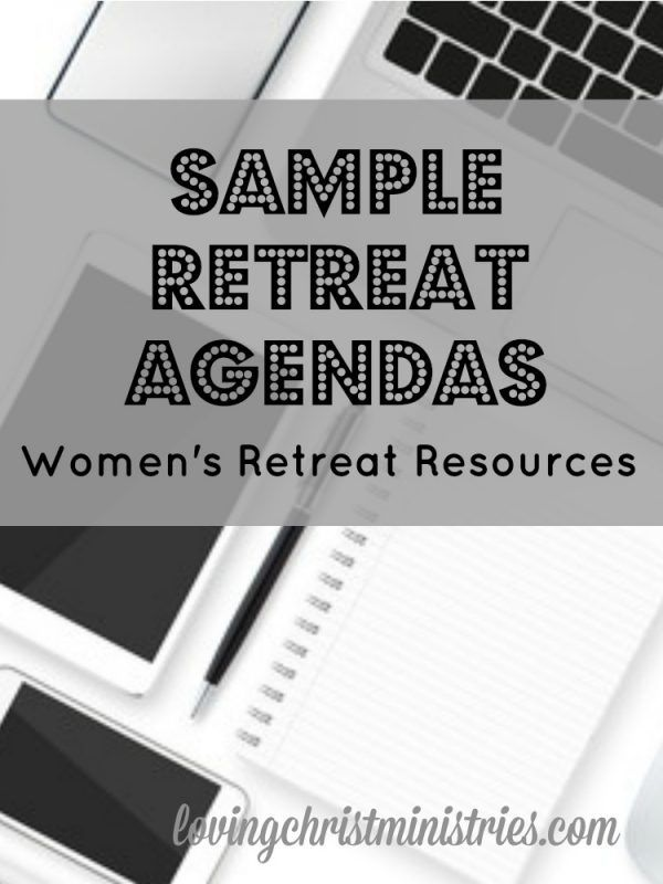 Creating retreat agendas for women's ministry and retreats doesn't always come easy. Use our actual agendas as templates for your own and save time!