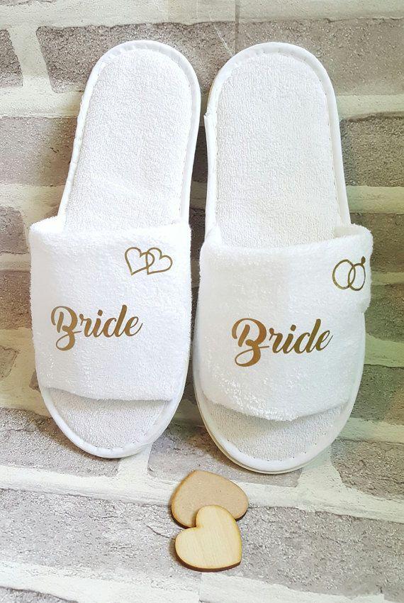 Bridesmaid Slippers Personalised Luxury  Wedding Slippers