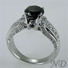 Engagement Rings :: Antique Black Diamond Engagement Ring
