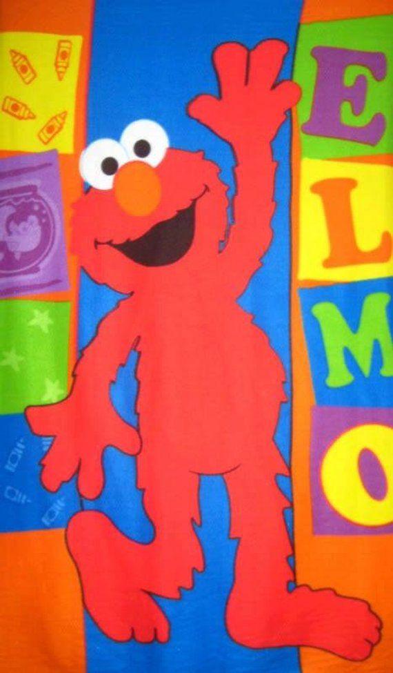 Sesame Street Elmo Blocks Fleece Panel Soft Warm Throw Blanket Or