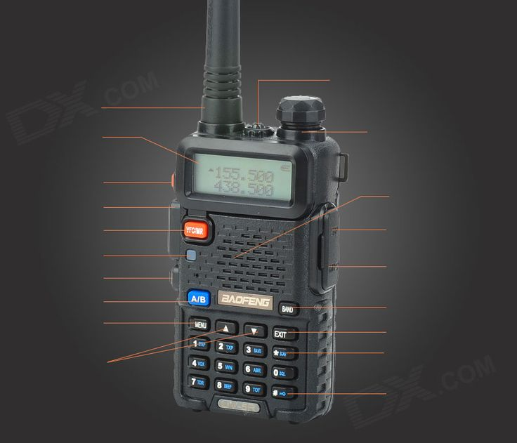 """BAOFENG UV5R 1.5"""" 136~174/400~520MHz Dual Band Walkie Talkie w/Torch - Free Shipping - DealExtreme"""