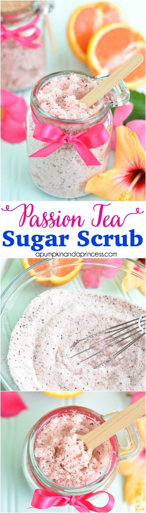 DIY Passion Tea Sugar Scrub
