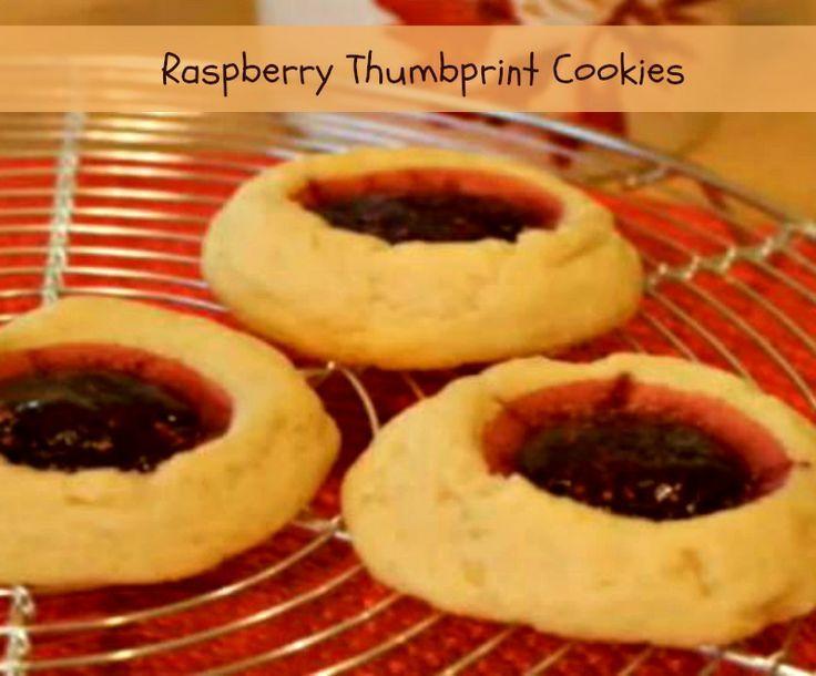 raspberry thumbprint cookies raspberry cookies cupcake cookies cookie ...