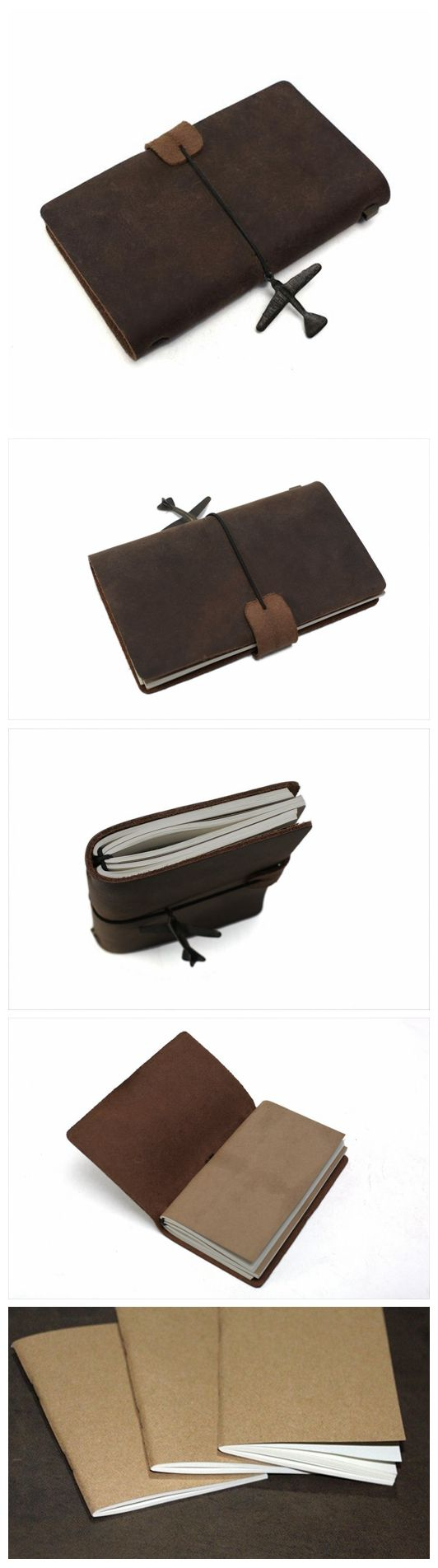 Handmade Leather Journal, Journals for Men, Leather Notebook, Rustic Leather Diary 00002