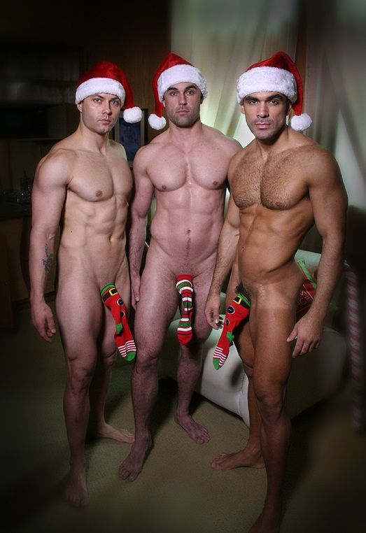 gay christmas Naked men