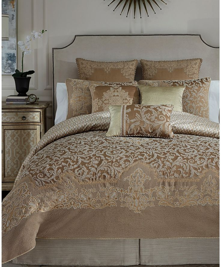 croscill monte carlo comforter sets this was my third and final purchase i love this set the taupe and gold color scheme is so elegant and rich looking