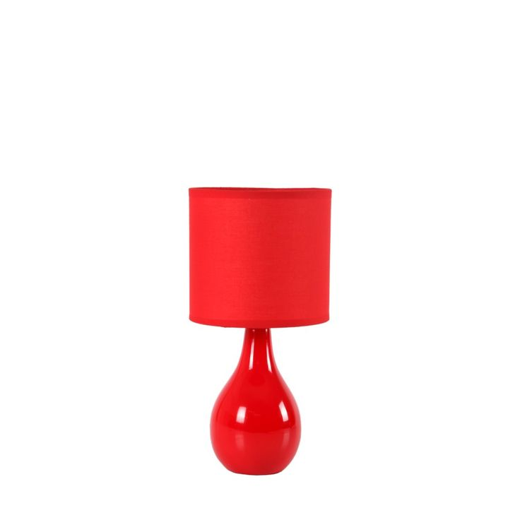 Ceramic bell shaped base with cotton fabrication shade. Lovely piece of lighting to bring in that urban feel into your home. Mr Price Home is NRCS (SABS) c