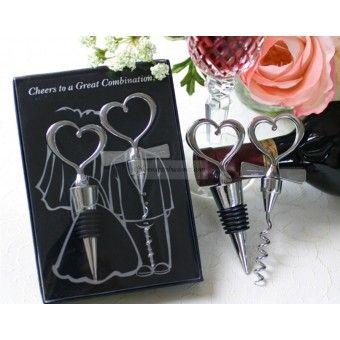 Cadeau original vin bouchon coeur pour invite mariage
