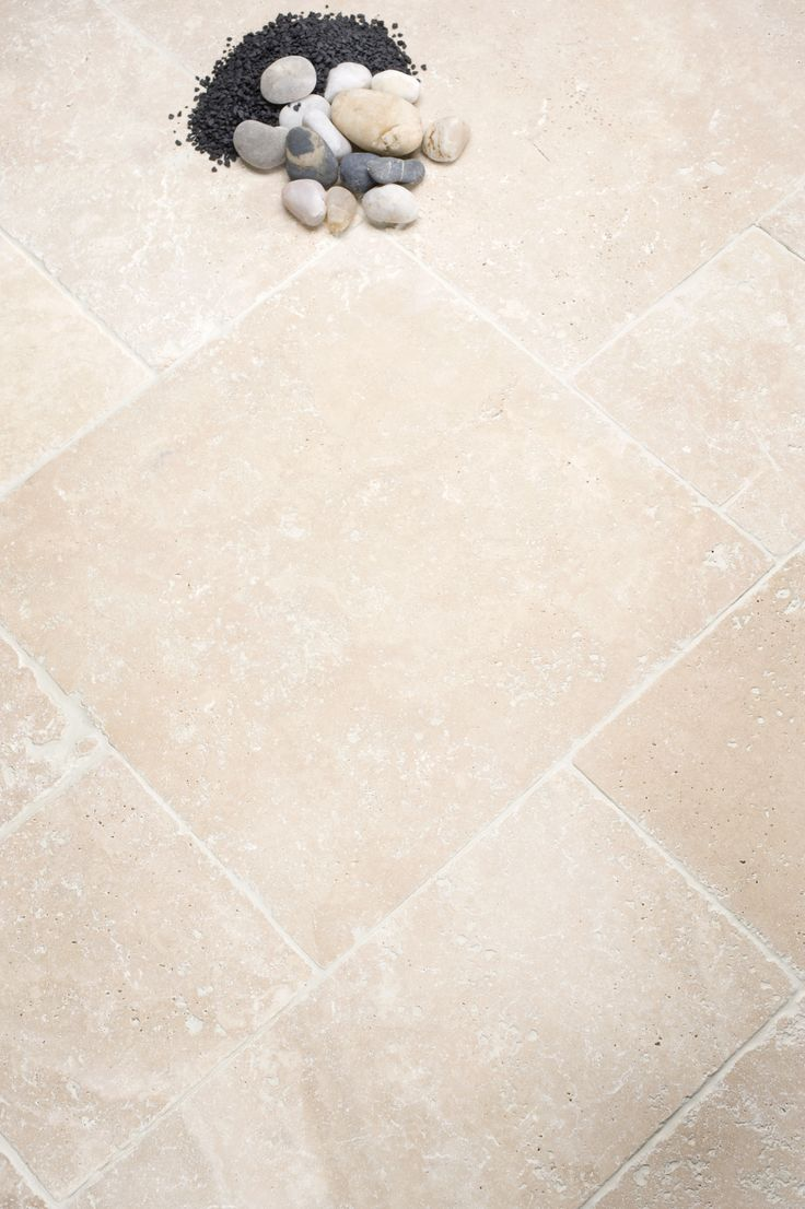 Ivory Tumbled and Unfilled Travertine