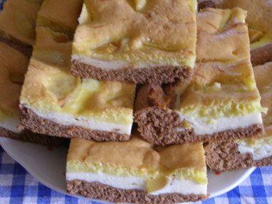 Barevný tvarohový koláč - Dezerty - TradicniRecepty.cz