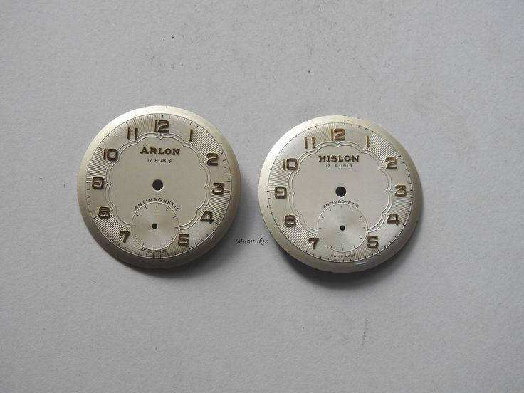 Arlon ve Hislon Kol saati Kadranları 31,95 mm Çaplarında (sıfır)