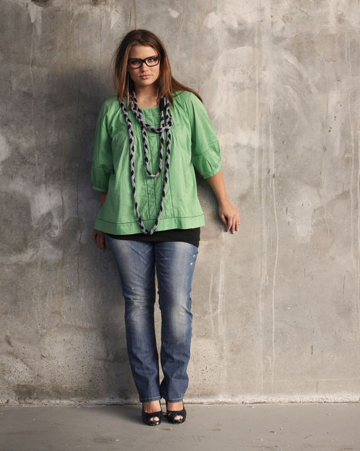 Fabulous look. French plus size model Tara Lynn. Love that shirt!!