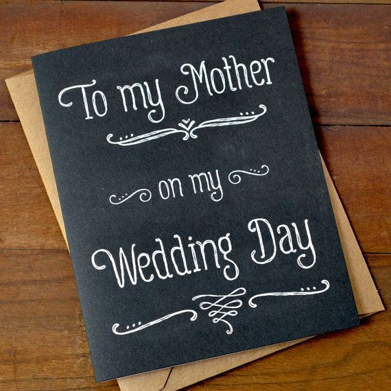 Gift For Mom On My Wedding Day : the Bride Card - To My Mother On My Wedding Day Gifts For Mom Mother ...