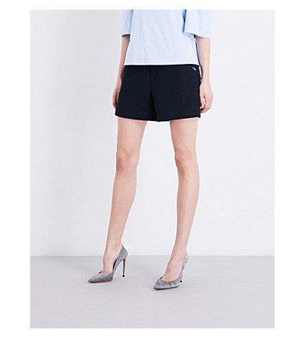 TED BAKER Colour By Numbers High-Rise Twill Shorts. #tedbaker #cloth #pants