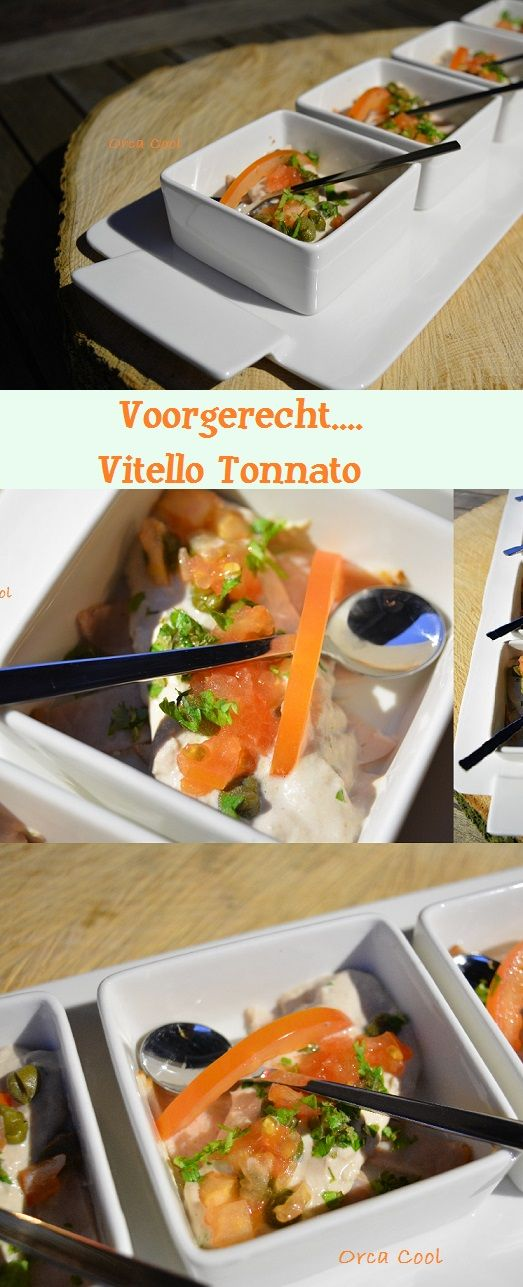 Voorgerecht... Vitello Tonnato Ansjovis - Tonijn - Fricandeau  #recept #voorgerecht #vis #serveerplateau