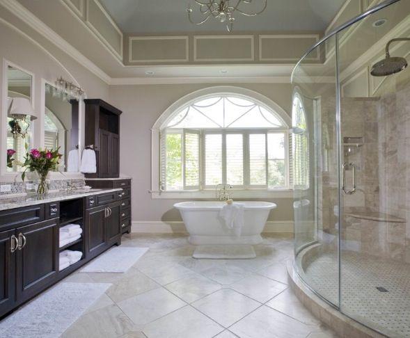 Master Bathroom Dark Cabinets 239 best master bathrooms images on pinterest | dream bathrooms