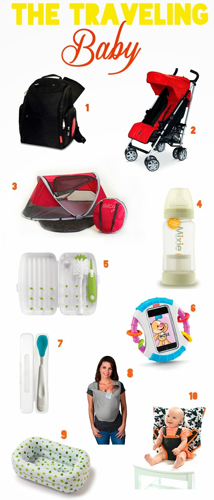 10 Must Have Products to Travel With a Baby...this might be the best list I've read...getting Charlie some of these.