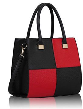 Handtas Fashion Zwart/Rood