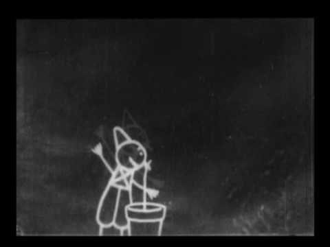 Fantasmagorie. Animación de Émile Cohl para Gaumont Company. 1908.