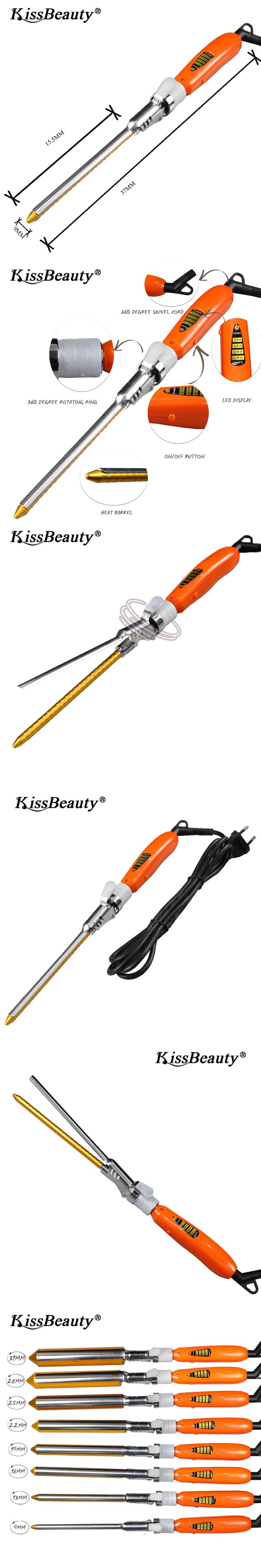 Kissbeauty Mini Size 9mm Hair Curler  to 31mm Ceramic Curling Irons Beach Waver Curling Iron Electric Curler Iron Hairdressing