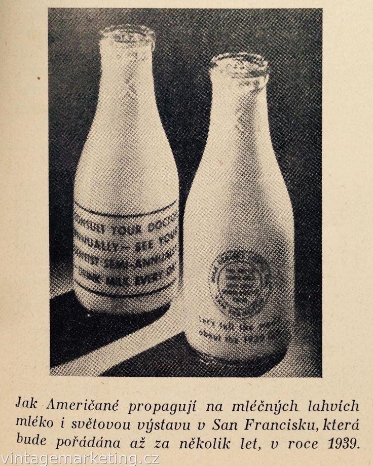 Propagace světové výstavy na lahvích s mlékem. http://ift.tt/2eqhiFh #vintagemarketing