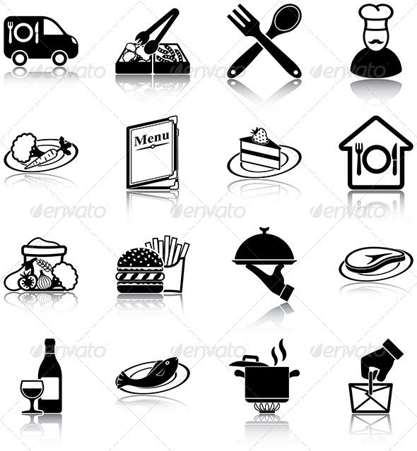 Restaurant Icons — JPG Image #cook #fish • Available here → https://graphicriver.net/item/restaurant-icons/5862908?ref=pxcr