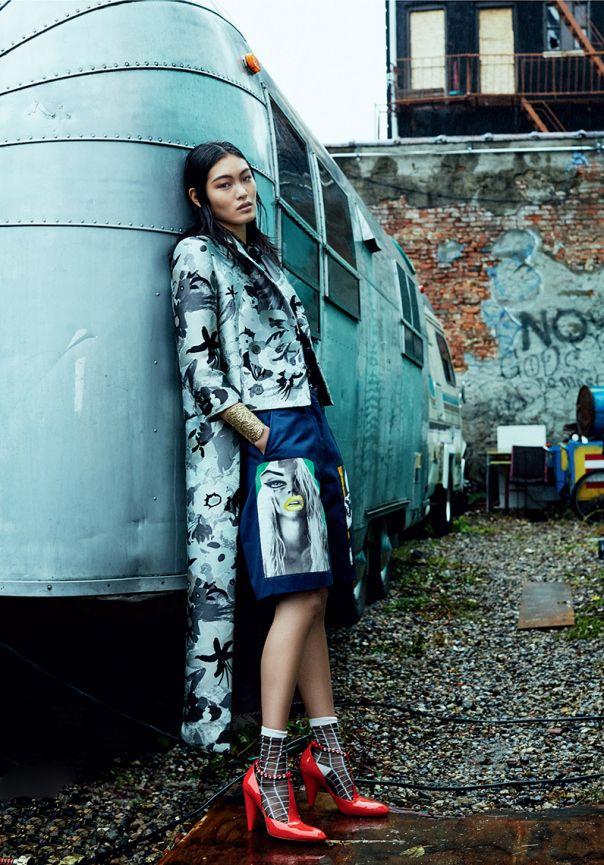 Dazed & Confused Korea December 2014 | Chiharu Okunugi by Michael Schwartz [Editorial]