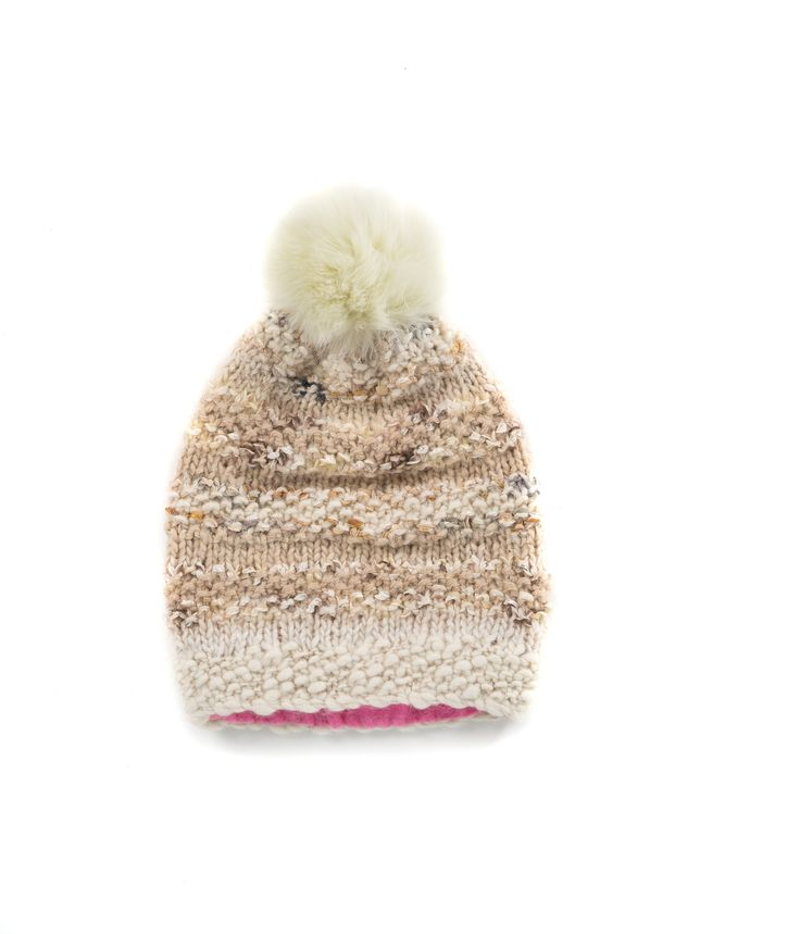 KNIT BEANIE CAP FOR WOMEN in Nougat - The GŌBLE Women Knit Beanie Cap is a luxurious soft blend of merino wool, alpaca, silk and mohair  HAND KNIT IN CANADA GOBLE.CA
