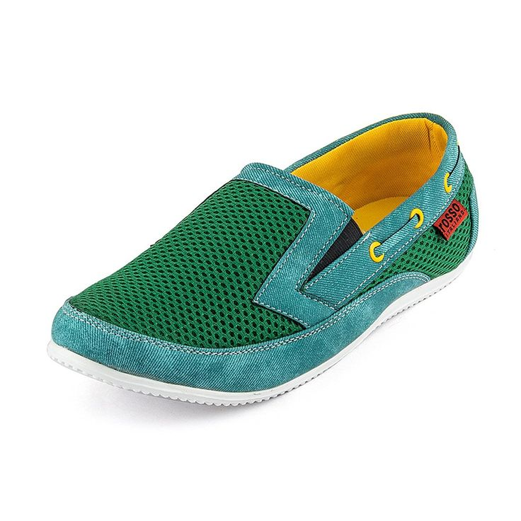 #Rosso Italiano #Men's #Green Sporty #Loafers #Shoe (ril499gr2311)