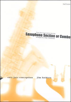 Jamey Aebersold Jazz: Easy Jazz Conception for Sax Section (AATTB)