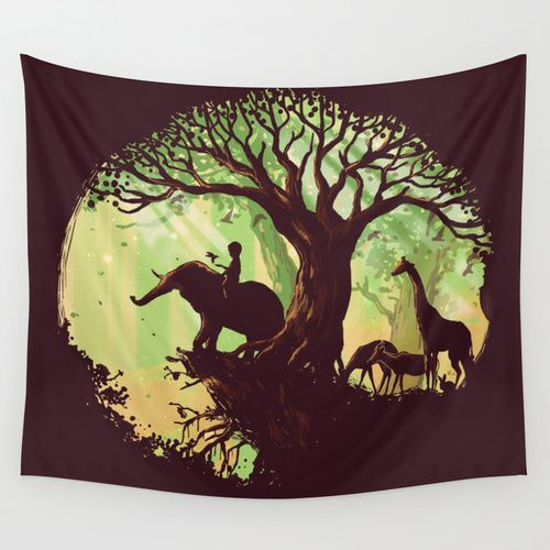 The jungle says hello Wall Tapestry