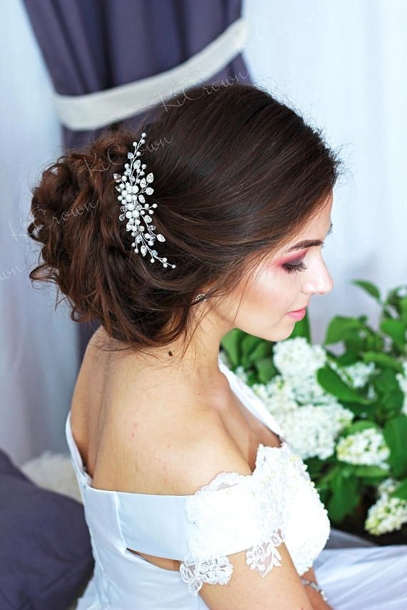 Bridal hair comb - Pearl headpiece - Pearls bridal headdress hair comb - Crystal bridal hair - Bridal hair ornaments - Wedding hair comb - Hair piece - Bridal comb - Wedd... #bridalhaircomb #bridalheadpiece #bridalhairpiece #weddingheadpiece #pearlhaircomb #crystalhaircomb #weddinghairstyle #floralhairpiece #wedding2017 #weddings ➡️ http://jto.li/rAxH4