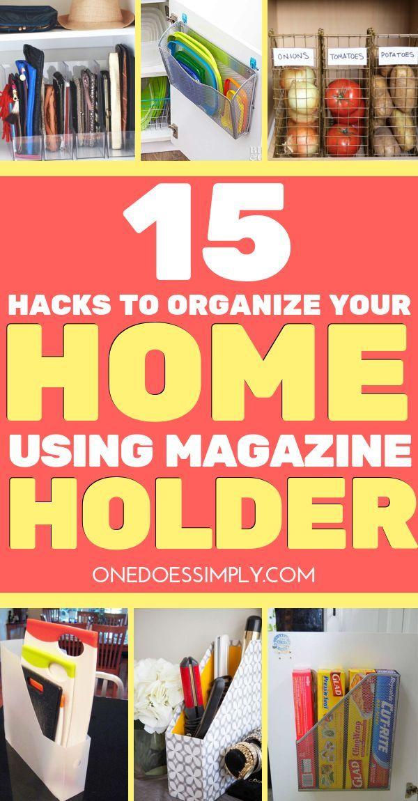 40 Organization Hacks Using Magazine Holder Small Home Storage Stunning Magazine Holders Cheap