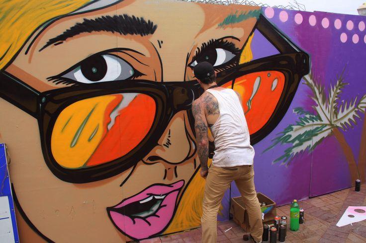 Graffiti, uMhlanga beachfront, Durban. Artist: Shaun Oakley (@iheartalies)