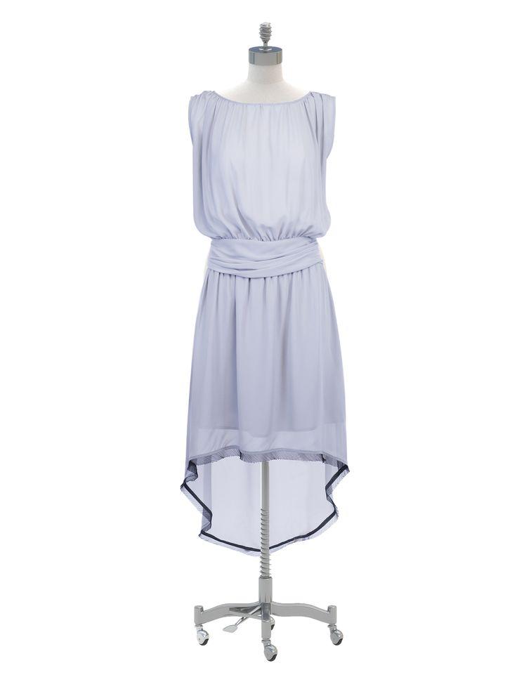 Grey Roman Chiffon Dress By Nicole Richie