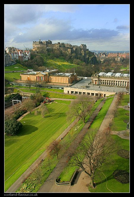 New Town Scotland Things to do: Princes Street Gardens, George Street, with its panoply of shops and stylish bars. Climb up to Calton Hill, take in Charlotte Square or wander down to Stockbridge on the Water of Leith. Can follow a path along the Water of Leith to the Dean Gallery, part of the capital National Galleries of Scotland. Catch the shuttle bus to any of the others, including the National Portrait Gallery or the main National Gallery of Scotland back on Princes Street Gardens.