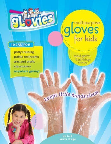 LATEX-FREE gLovies 100 Count Multipurpose DISPOSABLE Gloves for Kids