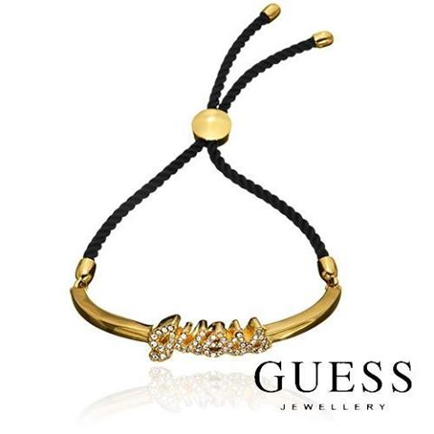 GUESS Bracelet- Show off your fun side with this unique GUESS Crystal Metal & Cord Slipknot bracelet. It comes in a branded white GUESS logo Pouch and has a 1 year replacement warranty. Now who deserves such a brilliant present? http://www.sparkly.com.au/new-arrivals/pavelogo-mtl-and-cd-slpknt-gld-blk.html