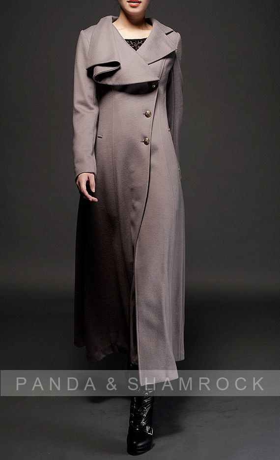 walk in wind/women clothing/long coat/high collar/belt/fit/custom made/autumn/winter