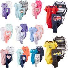 Navio livre 100% Algodão 2017 bebes conjunto de 3-24 M, roupas de bebê menino, menina roupa do bebê, recém-nascidos 3 peças ropa bebe menino alishoppbrasil