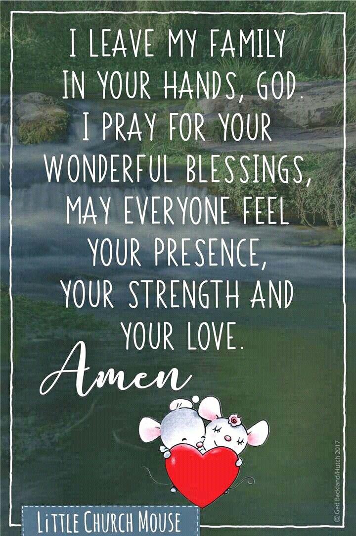prayer for God's presence, strength & love