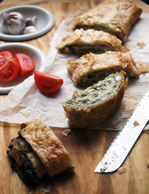 Spinach and chicken pastry pinwheel