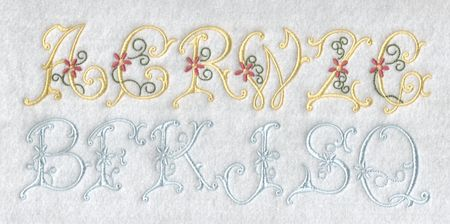 Heirloom Daisy Font There are 2 variations of this beautiful font.  One has 4 colour changes and the other is done in 1 colour only. You get both variations in this design set. http://bit.ly/21wWpXd