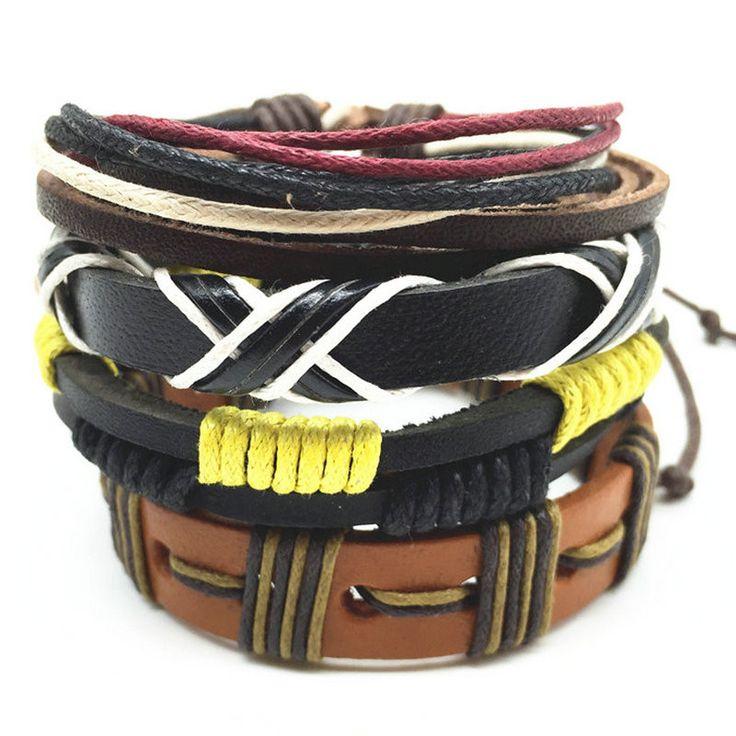 Кожаные браслеты для мужчин и женщин