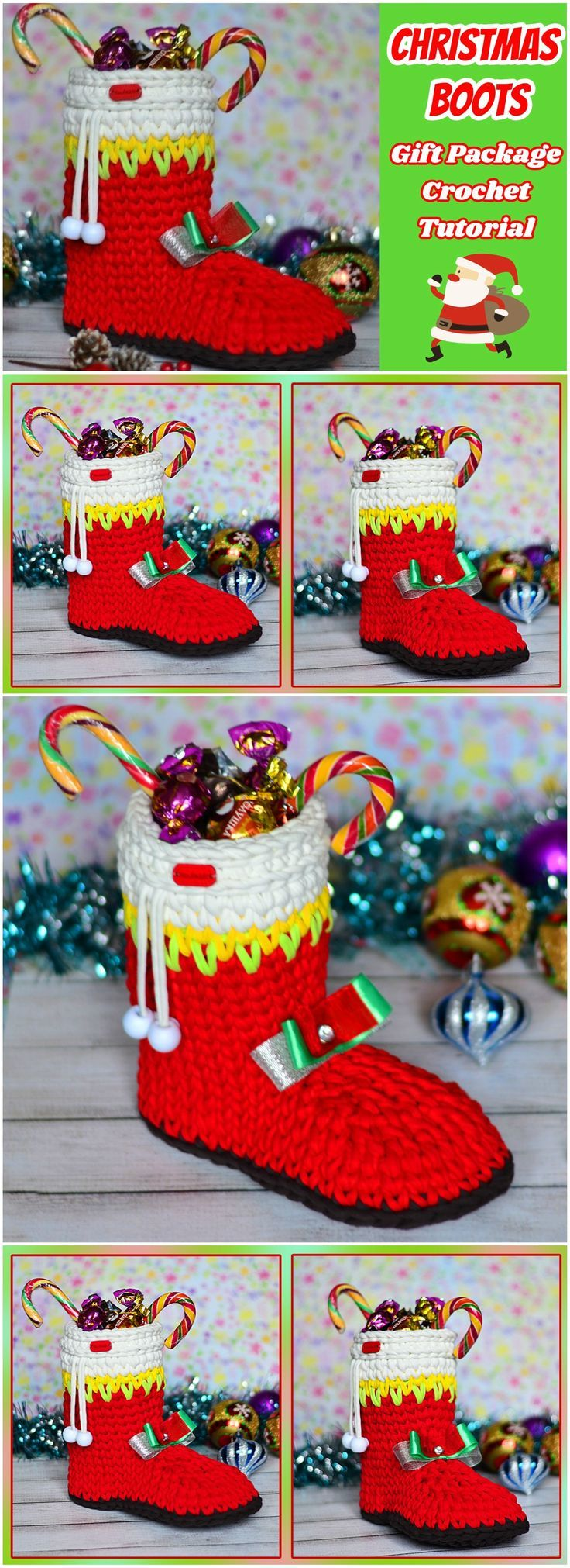 Crochet Christmas Boot Gift Package