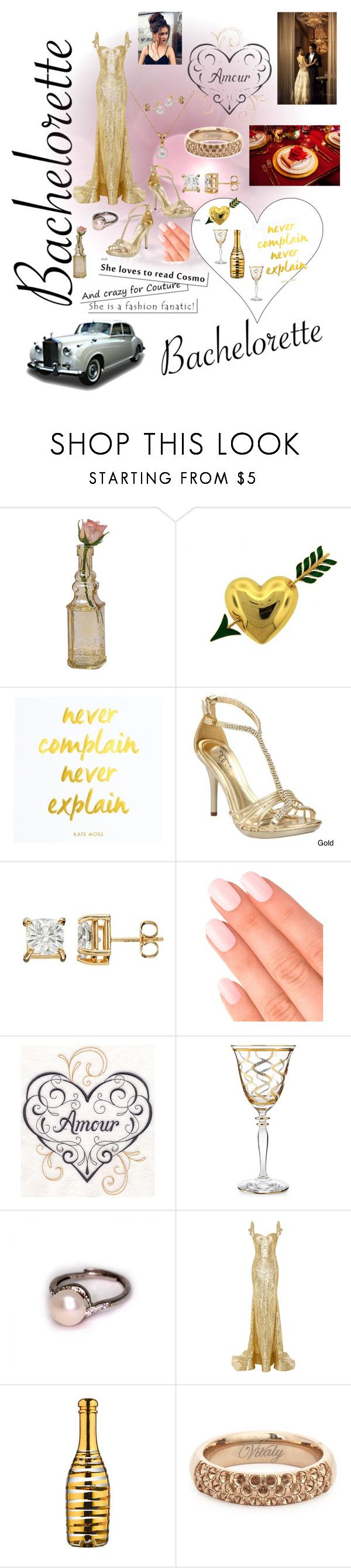 """""""Bachelorette Contest"""" by ericjen8685 ❤ liked on Polyvore featuring Cultural Intrigue, Van Cleef & Arpels, Ellie, Elegant Touch, Vietri, Naeem Khan, Kosta Boda and Vitaly"""