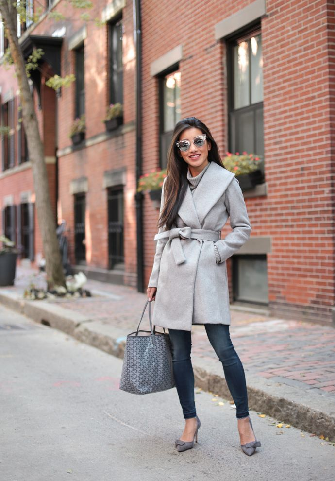 Read my review of this petite coatfrom last year, and see how I styled the wrap look with a dressier office outfit.