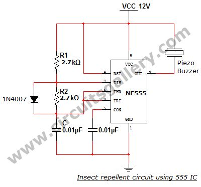 a0a5c048c329f932d954772512a60fe2 electrical projects insect repellent electronic mosquito insect repellent circuit using 555 ic bug zapper wiring diagram at creativeand.co